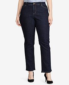 Lauren Ralph Lauren Plus Size Premier Straight-Leg Jeans