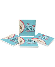 Thirstystone Oh, Cabana Boy! 4-Pc. Coaster Set