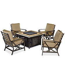 Wyndham Square Fire Pit Chat Set, Created for Macy's