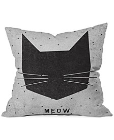 """Wesley Bird Meow 16"""" Square Decorative Pillow"""