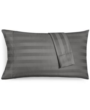 Charter Club Damask Stripe Standard Pillowcase Set 550 Thread Count 100 Supima Cotton Created for Macys Bedding