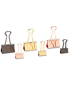 Poppin 6-Pc. Metallic Binder Clips