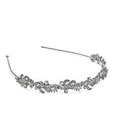 Nina Silver-Tone Crystal Vine Headband