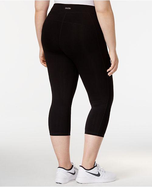 f5f7c9d9fa4 Calvin Klein Plus Size Capri Leggings - Pants   Capris - Plus Sizes ...