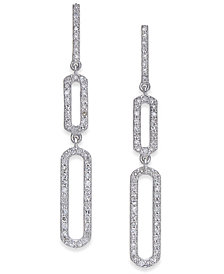Diamond Geometric Drop Earrings (1/3 ct. t.w.) in 14k White Gold