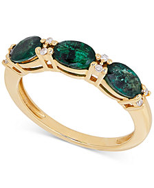 Emerald (1-3/8 ct. t.w.) and Diamond Accent Ring in 14k Gold