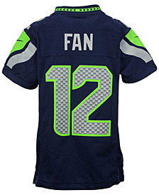 Nike Fan #12 Seattle Seahawks Limited Jersey, Big Boys (8-20)