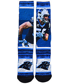 For Bare Feet Men's Luke Kuechly Carolina Panthers Rush Player Jersey Crew Socks