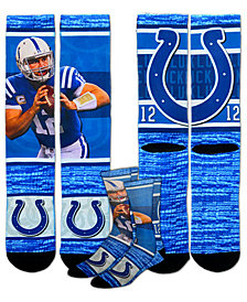 For Bare Feet Men's Andrew Luck Indianapolis Colts Rush Player Jersey Crew Socks