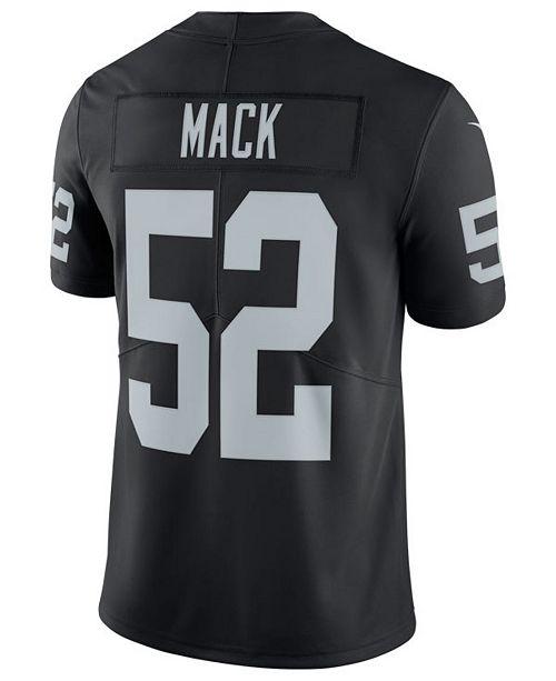 aff6bbf76 ... Nike Men's Khalil Mack Oakland Raiders Vapor Untouchable Limited Jersey  ...