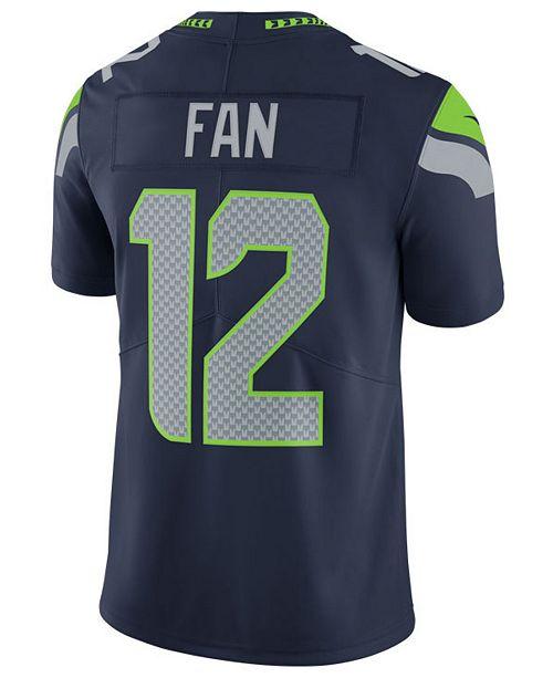 ... Nike Men s Fan  12 Seattle Seahawks Vapor Untouchable Limited Jersey ... 8f9beabde