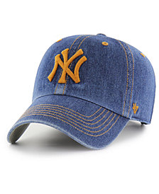 '47 Brand New York Yankees All Denim CLEAN UP Cap