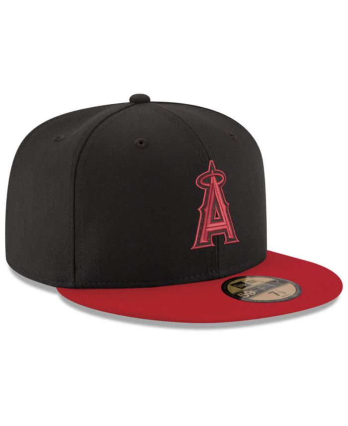 New Era Los Angeles Angels of Anaheim Black & Red 59FIFTY Fitted Cap & Reviews - Sports Fan Shop By Lids - Men - Macy's