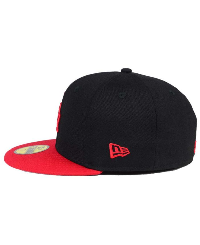 New Era Los Angeles Dodgers Black & Red 59FIFTY Fitted Cap & Reviews - Sports Fan Shop By Lids - Men - Macy's
