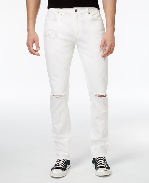 3da2b6ab2aa American Rag Men's White Ripped Jeans, Created for Macy's & Reviews ...