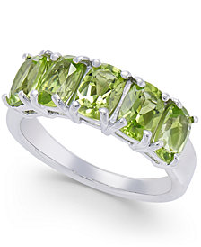 Peridot Five Stone Ring (2-3/4 ct. t.w.) in Sterling Silver