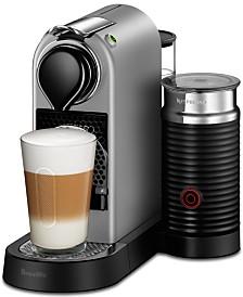 Nespresso by Breville CitiZ&Milk Silver Espresso Machine with built-in Aeroccino3