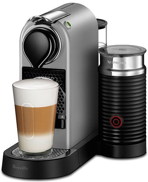 Nespresso By Breville CitiZ Milk Silver Bundle