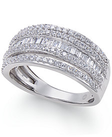 Diamond Multi-Row Ring (1 ct. t.w.) in 14k White Gold