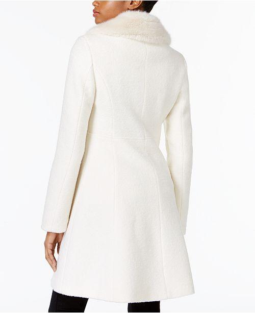 043d4ce559664 INC International Concepts I.N.C. Faux-Fur-Trim Asymmetrical Walker Coat