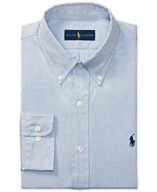 Polo Ralph Lauren Men's Pinpoint Oxford Solid Dress Shirt