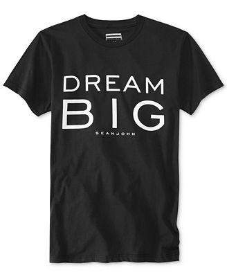 Sean john men 39 s dream big t shirt created for macy 39 s t for Sean john t shirts for mens