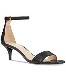 Leisa Two-Piece Kitten Heel Sandals
