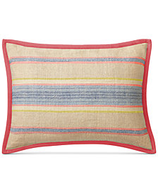 "CLOSEOUT! Lauren Ralph Lauren Cayden Ticking-Stripe 15"" x 20"" Decorative Pillow"