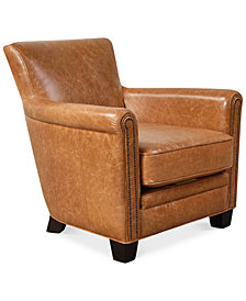 CLOSEOUT! Norwell Leather Chair