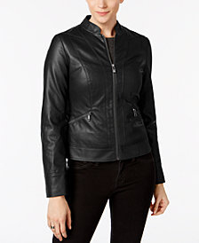 I.N.C. Faux-Leather Moto Jacket, Created for Macy's