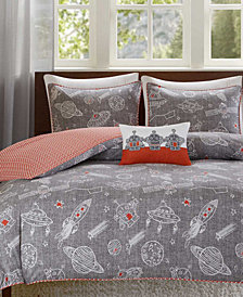 INK+IVY Kids Orbit Reversible 4-Pc. Full/Queen Duvet Cover Set