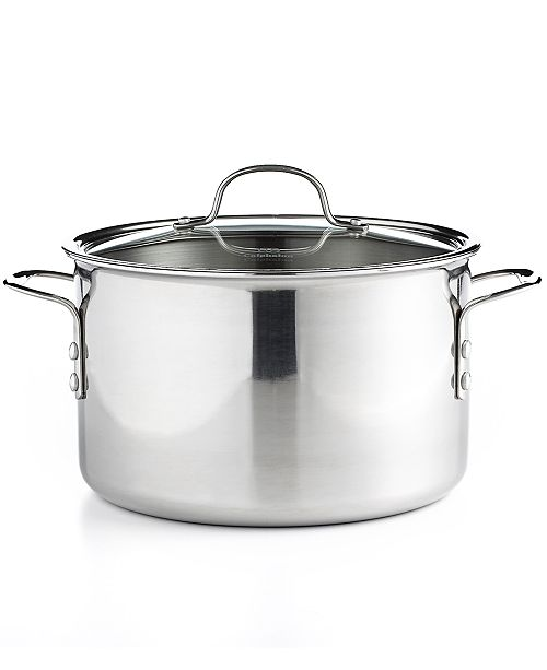 Calphalon Tri Ply Stainless Steel 8 Qt Covered Stockpot