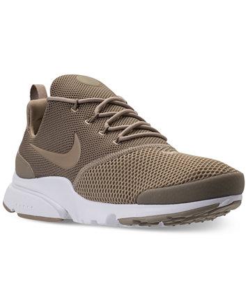 Nike Men's Presto Fly Running Sneakers From Finish Line Khaki/Khaki-white