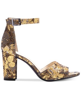 Jessica Simpson Sherron Microsuede Ankle Strap Block Heel Sandals