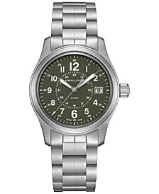 Hamilton Men's Swiss Khaki Field Stainless Steel Bracelet Watch 38mm
