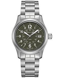 Hamilton Men's Swiss Khaki Field Stainless Steel Bracelet Watch 38mm