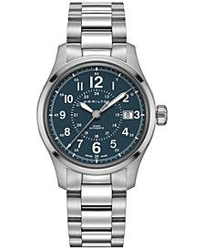 Hamilton Men's Swiss Automatic Khaki Field Stainless Steel Bracelet Watch 40mm