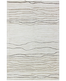 "Kenneth Mink Waves 7'9"" x 9'9"" Area Rug, Created for Macy's"