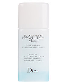 Receive a Complimentary Instant Eye Makeup Remover Deluxe Mini with any 2 product Dior eye purchase