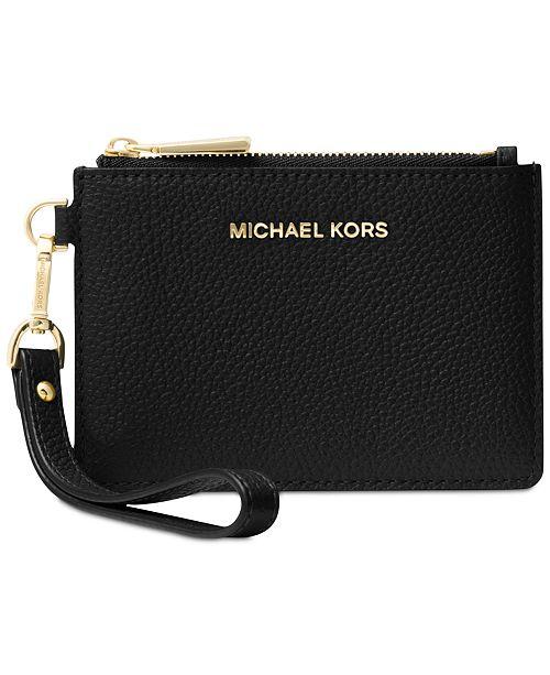 fa61763a46d8 Michael Kors Mercer Pebble Leather Coin Purse & Reviews - Handbags ...