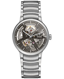 Rado Men's Swiss Centrix Automatic Skeleton Stainless Steel Bracelet Watch 38mm