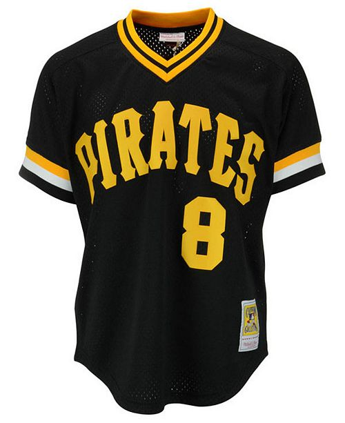 promo code 4d2a6 ec9b5 Men's Willie Stargell Pittsburgh Pirates Authentic Mesh Batting Practice  V-Neck Jersey