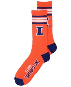 Illinois Fighting Illini 4 Stripe Deuce Crew Socks