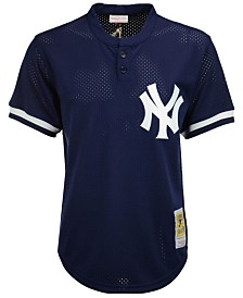 Mitchell & Ness Men's Mariano Rivera New York Yankees Authentic Mesh Batting Practice V-Neck Jersey