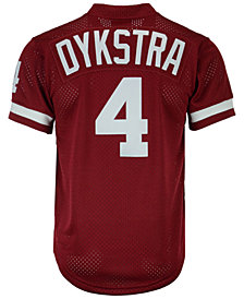 Mitchell & Ness Men's Lenny Dykstra Philadelphia Phillies Authentic Mesh Batting Practice V-Neck Jersey