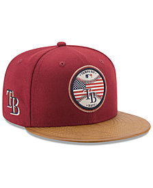 New Era Tampa Bay Rays Leather Americana 59FIFTY Cap