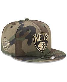 New Era Brooklyn Nets Metallic Woodland 9FIFTY Snapback Cap