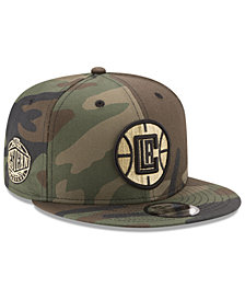 New Era Los Angeles Clippers Metallic Woodland 9FIFTY Snapback Cap