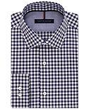 Tommy Hilfiger Men's Slim-Fit Navy Gingham Dress Shirt