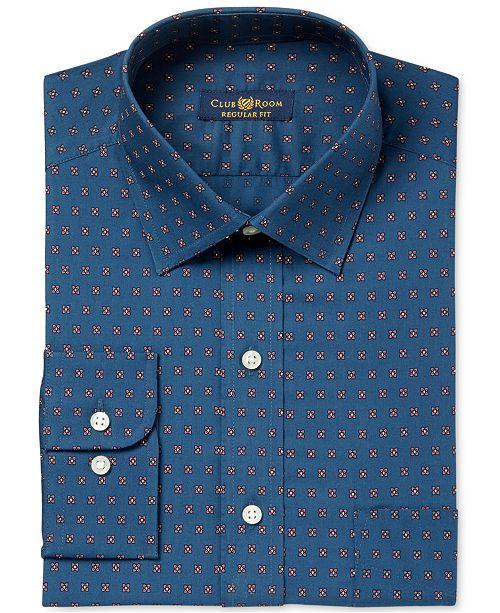 Men's Classic/Regular Fit Foulard Print Dress Shirt, Created for Macy's